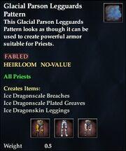 Glacial Parson Legguards Pattern