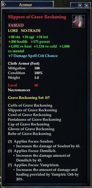Slippers of Grave Reckoning