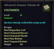 Advanced Armorer Volume 22