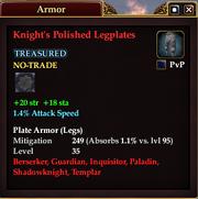 Knight's Polished Legplates