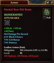 Martial Bear Pelt Boots