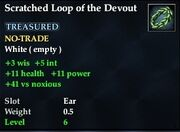 Scratched Loop of the Devout