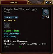 Resplendent Thaumaturge's Cuffs