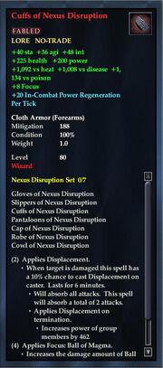 Cuffs of Nexus Disruption