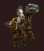 Horned Mountain Saliraptor (Equipped)