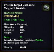 Carbonite Vanguard Gussets