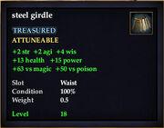 Steel girdle