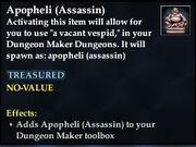 Apopheli (Assassin)