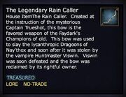 The Legendary Rain Caller Bow