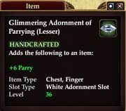 Glimmering Adornment of Parrying (Lesser)