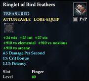 Ringlet of Bird Feathers