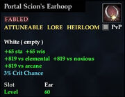 Portal Scion's Earhoop