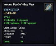 Woven Beetle Wing Vest