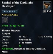 Satchel of the Darklight Destroyer