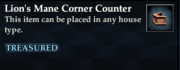 Lion's Mane Corner Counter