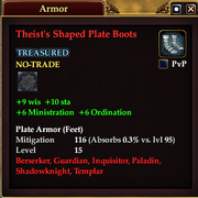 Theist's Shaped Plate Boots