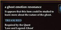 A ghost emotion resonance