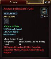 Archaic Spiritualist's Coif