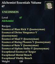Alchemist Essentials Volume 67