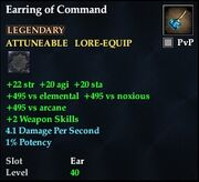 Earring of Command