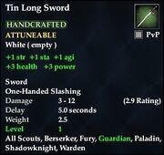Tin Long Sword