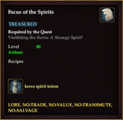 Focus of the Spirits