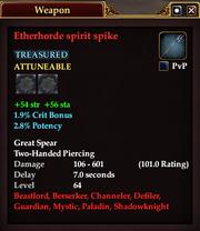 Etherhorde spirit spike