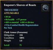 Emperor's Sleeves of Beasts