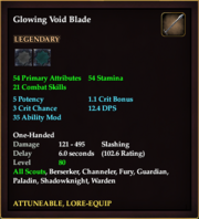 Glowing Void Blade