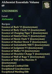Alchemist Essentials Volume 69