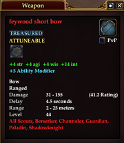 Feywood short bow