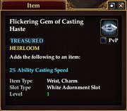 Flickering Gem of Casting Haste
