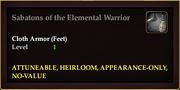 Sabatons of the Elemental Warrior