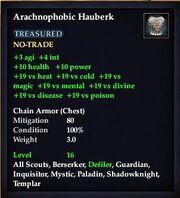 Arachnophobic Hauberk