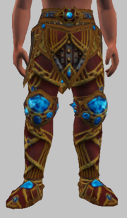 Vesspyr Warrior's Red Greaves (Equipped)