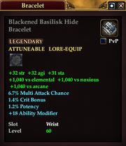 Blackened Basilisk Hide Bracelet