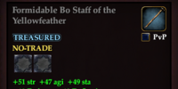 Formidable Bo Staff of the Yellowfeather