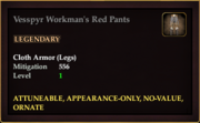 Vesspyr Workman's Red Pants