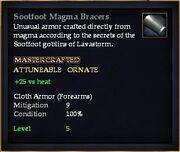 Sootfoot Magma Bracers