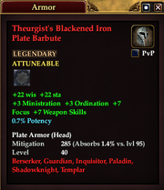Theurgist's Blackened Iron Plate Barbute