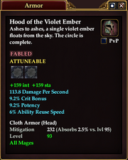 Hood of the Violet Ember