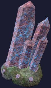 Dense crystal formation (Visible)