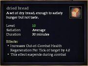 Dried bread