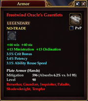 Frostwind Oracle's Gauntlets