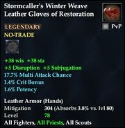 Stormcaller's Winter Weave Leather Gloves of Restoration