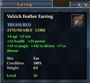 Vulrich Feather Earring