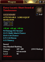 Fierce Lucanic Short Sword of Timelessness