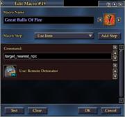 Great Balls of Fire Macro
