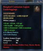 Roughed Caertaxian Legion Underleggings