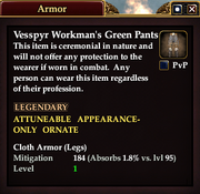 Vesspyr Workman's Green Pants